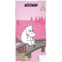 strandlaken Moomin 70 x 140 cm katoen roze