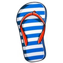 strandlaken slipper 90 x 170 cm blauw/wit