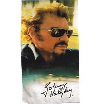 badlaken Johnny Hallyday 75 x 150 cm