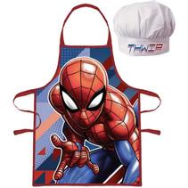 kookschort Spider-Man katoen blauw/rood 2-delig