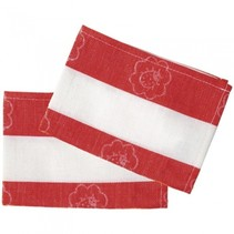 theedoeken rood/wit 18 cm 2 stuks
