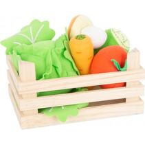groenteset junior 18 x 12 cm hout/vilt 6-delig