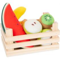 fruitset junior 18 x 12 cm hout/vilt 6-delig