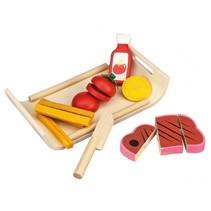 Houten speelgoedeten avondmaaltijd 7-delig