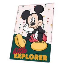 fleecedeken Mickey 150 cm polyester groen/geel/zwart