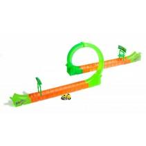 racebaanset met racemotor 16-delig rood/groen