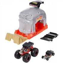 lanceerbaan Monstertruck Bone Shaker 12,5 cm oranje/grijs