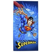 badhanddoek Superman jongens 70 x 140 cm katoen blauw