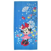 strandlaken Minnie Mouse 70 x 140 cm katoen blauw/roze