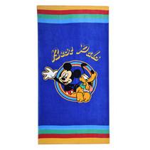 strandlaken Mickey & Pluto junior 70 x 140 cm katoen blauw