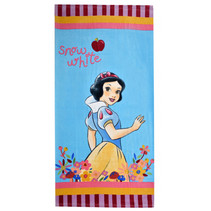 badlaken Sneeuwwitje Princess 70 x 140 cm katoen blauw