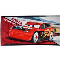 strandlaken Cars junior 70 x 140 cm katoen rood/wit