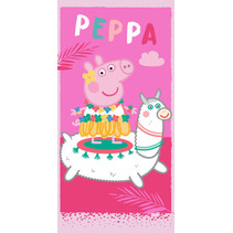 handdoek Peppa Pig junior 70 x 140 cm katoen rood