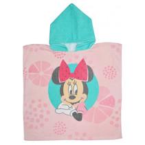 badponcho Minnie Mouse 100 cm katoen mintgroen/roze