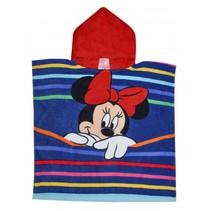 badponcho Minnie Mouse junior 100 cm katoen donkerblauw