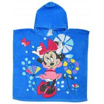 badponcho Minnie Mouse junior 100 cm katoen lichtblauw