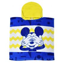 badponcho Mickey junior 50 x 100 cm katoen geel/blauw