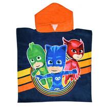badponcho PJ Masks junior 100 cm katoen blauw/oranje