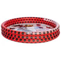 opblaaszwembad junior 122 x 23 cm rood/zwart