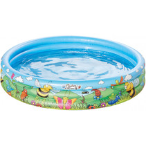 opblaaszwembad 122 x 25 cm blauw
