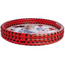 opblaaszwembad junior 157 x 28 cm rood/zwart