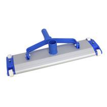 zwembadreiniger 44,5 x 13 cm aluminium blauw/wit