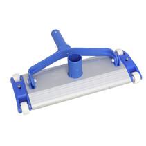 zwembadreiniger 34 x 13 cm aluminium blauw/wit