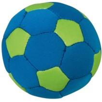 Splashbal voetbal13 cm foam blauw/groen