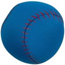 Splashbal baseball 13 cm foam blauw