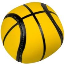 Splashbal basketbal 13 cm foam geel