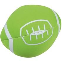 Splashbal football 13 cm foam groen