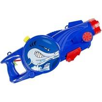 waterpistool blauw/rood haai 25 cm