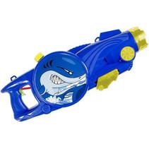 waterpistool blauw/geel haai 25 cm