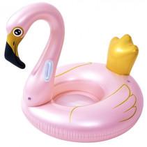 opblaasdier flamingo 115 x 45 cm PVC roze/goud