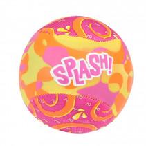 Waterstuiterbal Splash polyester roze/oranje