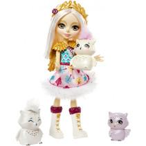 tienerpop Odele Owl meisjes 15 cm blauw/wit