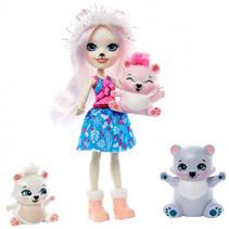 tienerpop Pristina Polar Bear meisjes 15 cm wit/blauw
