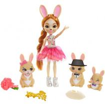 tienerpop Brystal Bunny meisjes 15 cm beige/roze