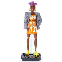 pop BMR1959 meisjes 32 cm oranje/wit