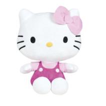 knuffel Hello Kitty junior 18 cm polyester roze/wit