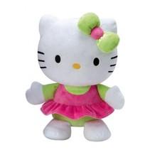 Hello Kitty knuffel Doll pluche meisjes groen 25 cm