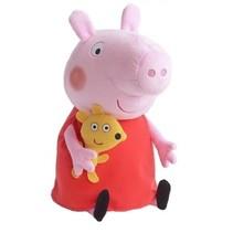 knuffel Peppa Pig pluche rood 33 cm