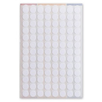 etiketten rond 8 mm papier wit 3 vellen á 104 stuks
