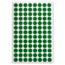 etiketten rond 8 mm papier groen 3 vellen á 104 stuks