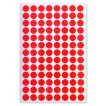 etiketten rond 8 mm papier rood 3 vellen á 104 stuks