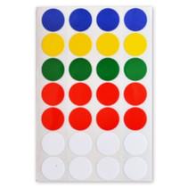 etiketten rond gekleurd 16 mm papier 3 vellen á 28 stuks