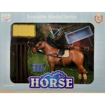 paardenspeelset 12 x 10 cm bruin 6-delig