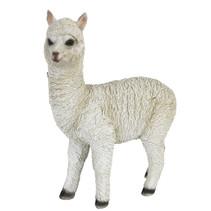 alpaca 17,5 x 23,5 cm polyresin wit