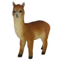 alpaca 17,5 x 23,5 cm polyresin lichtbruin