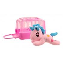paard met hok roze 11 cm